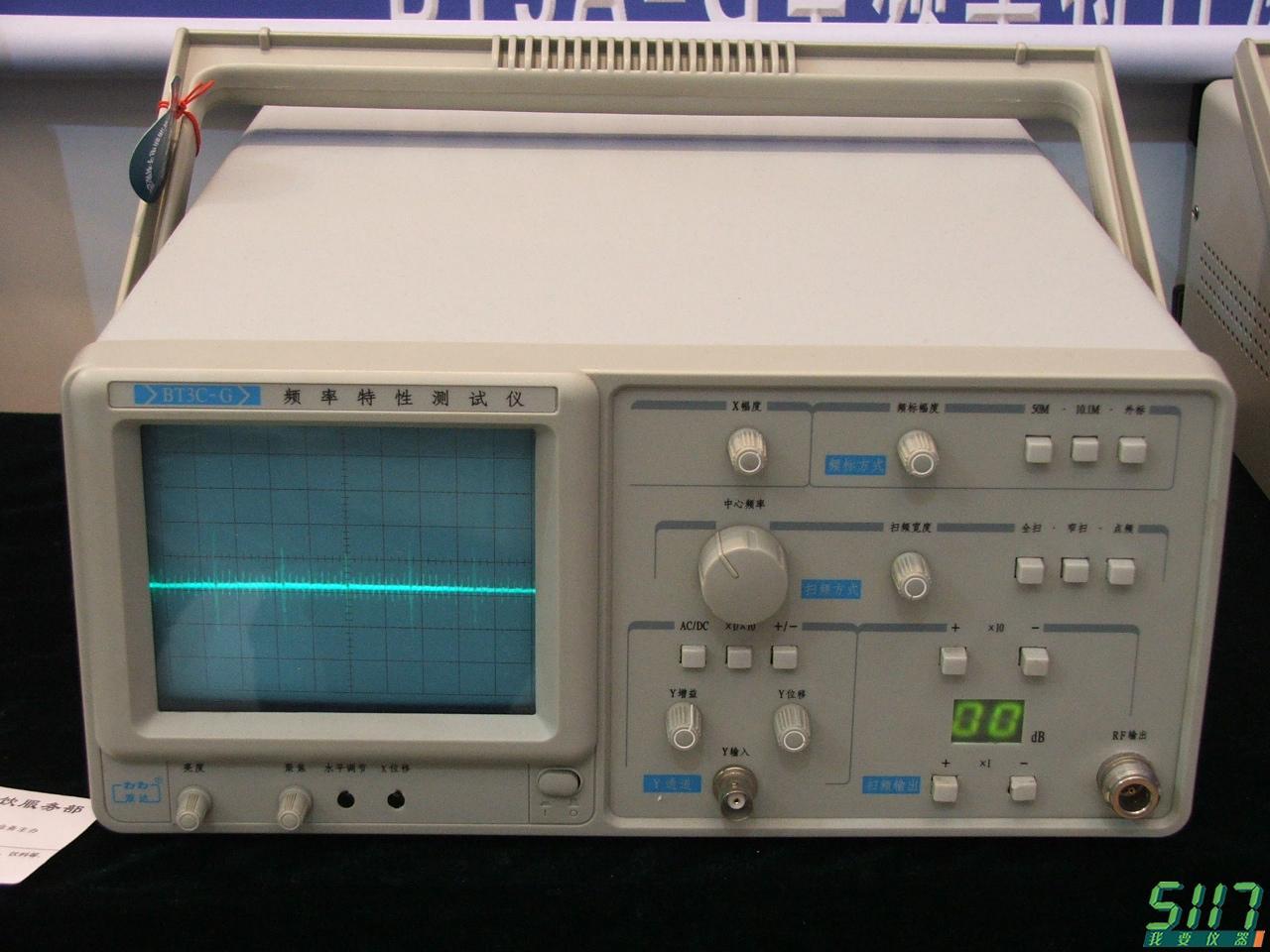 涌新电子展示的频率特性测试仪等产品